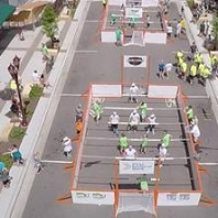 Human Foosball Tournament and Block Party